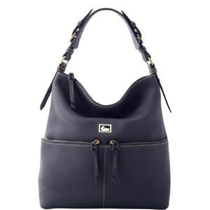 EUC Dooney & Bourke Large Navy Leather Handbag
